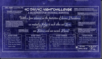 Beck's 40-DAy 40-Night Challenge
