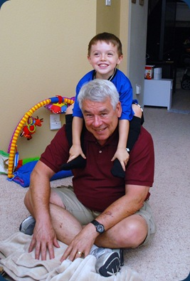 Cal and Grandpa justa hangin