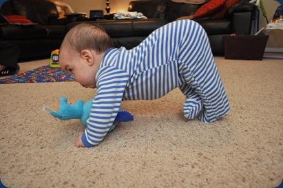 I can't crawl, but I have this yoga stuff down