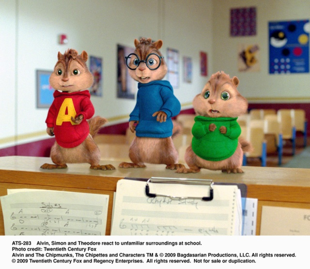 theodore, alvin, simon, chipmunks, The Squeakuel, first day in school