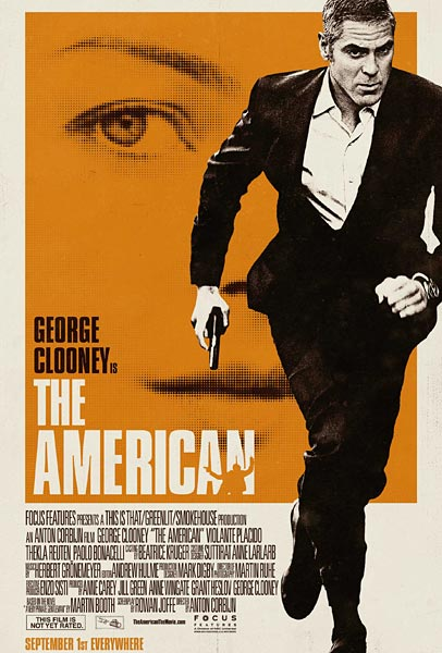 The American, movie, poster, George Clooney