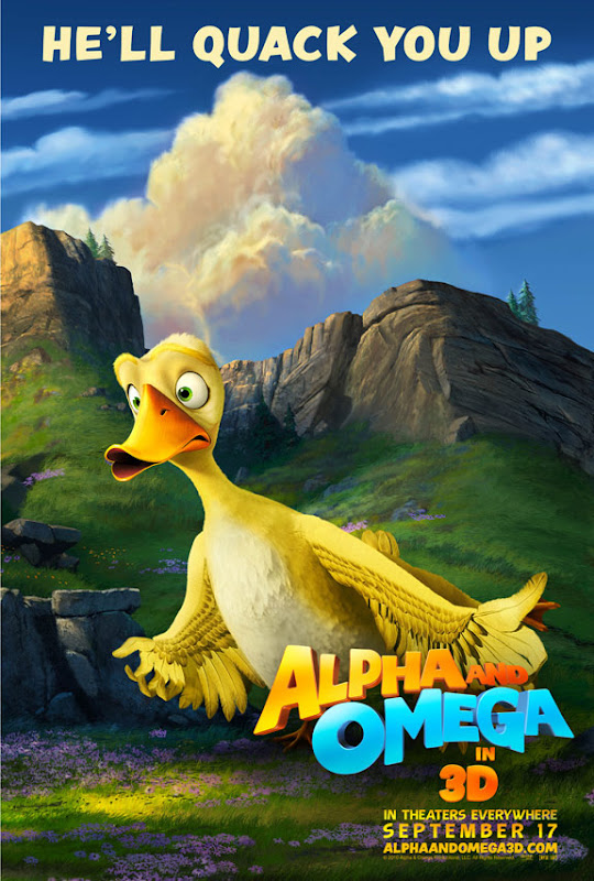he'll quack you up, Alpha and Omega, movie, poster