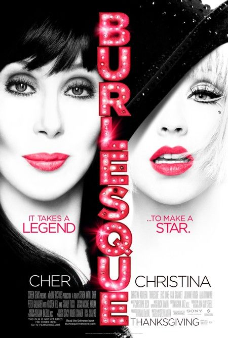 Burlesque, Movie, Poster, Christina Aguilera, Cher
