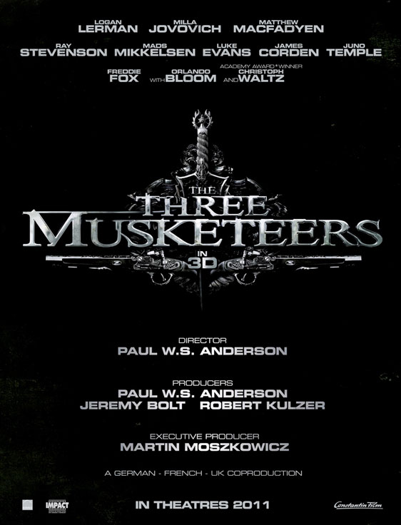 The Three Musketeers, movie, poster, 2011, film