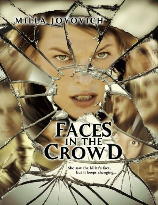 Faces in the Crowd, Movie, Poster, Milla Jovovich