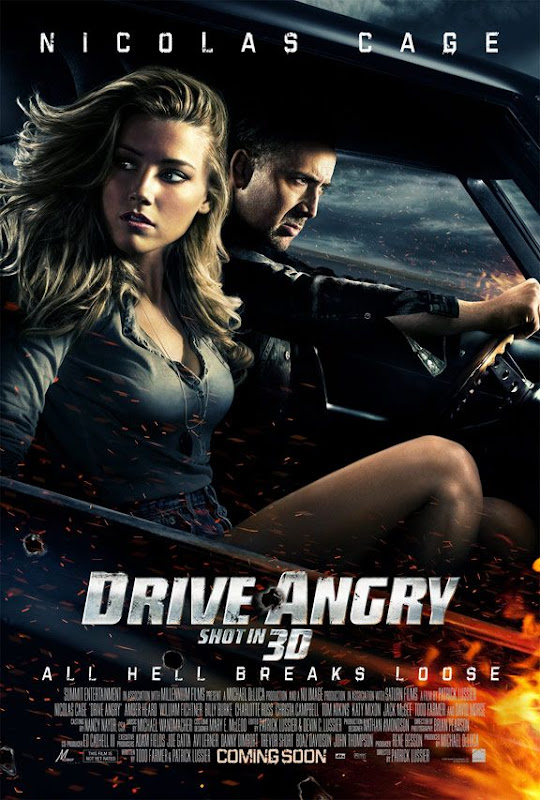 Drive Angry 3D, new, movie, poster, Nicolas Cage