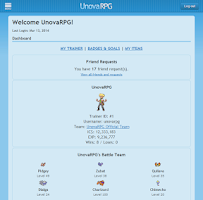 Screenshot of UnovaRPG Pokemon Online Game