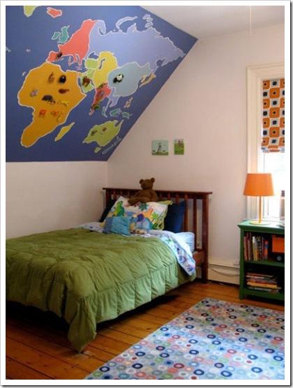 gyerekszoba lakberendezése falkép
