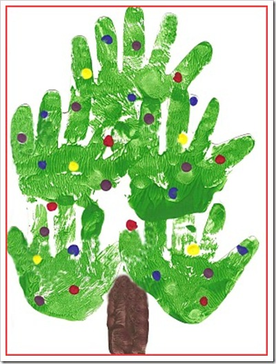 Christmas Tree Handprint