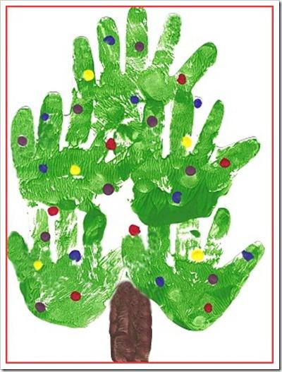 Christmas Tree Handprint