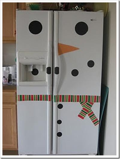 karácsonyi hűtő dekoráció