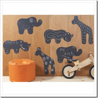 Chalkboard Animal Removable Wall Decals