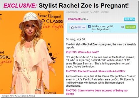 rachel pregnant