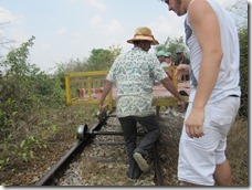 disassembling of the bamboo train