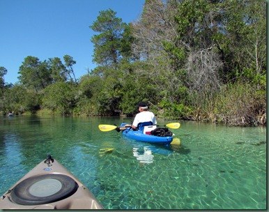 Al Paddling the Weeki Wachee River