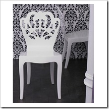 Pattern Bent Wood Chair (High gloss white) - Brocade Home
