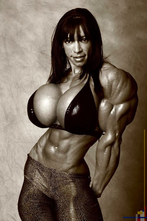 female muscle + breast expansion morph