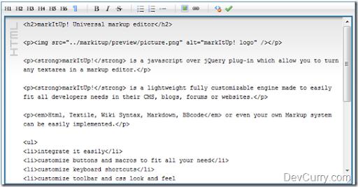 Jquery Rich Text Editor Plugin