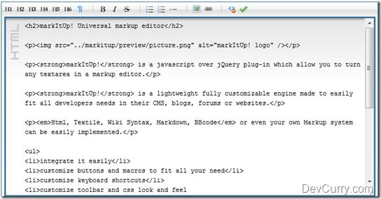 jQuery Rich Text Editor