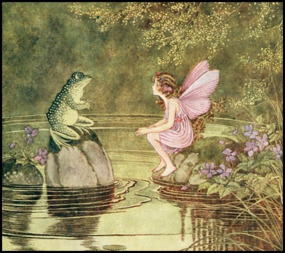 dover fairy and frog talking