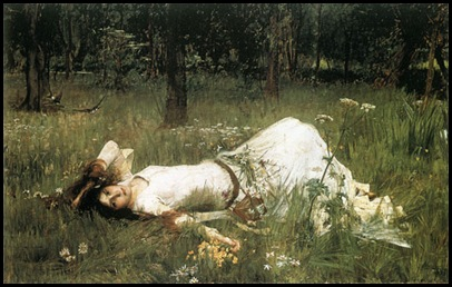 Ophelia-John William Waterhouse (1849 &#8211;1917)