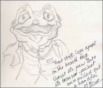 Mr. Toad uit The wind in the Willows