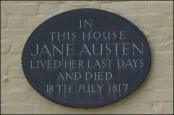 plaque on her last home