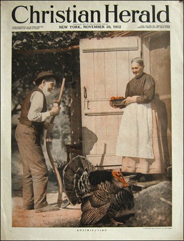 1912 Christian Herald Magazine Cover  Amish Couple Turkey