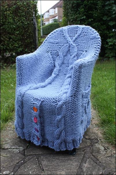 gebreide stoel