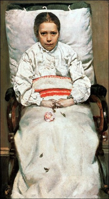 Christian Krohg 1852 – 1925, Norwegian sick girl