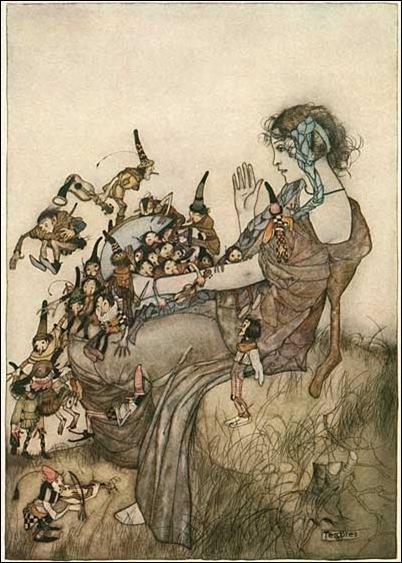 Gustaf Tenggren fairy tale illustration.
