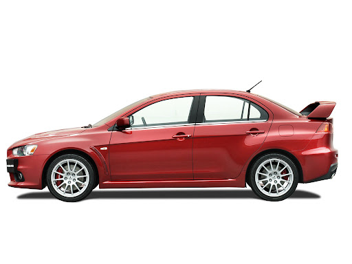 Mitsubishi Lancer Evolution X Side View