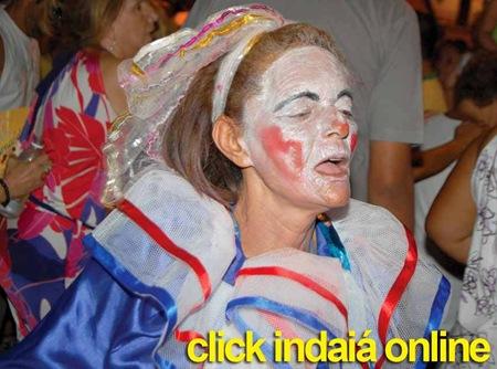 Uma das foliãs mais animadas do Carnaval das Marchinhas (Crédito: Fábio Alexandre)
