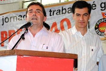 Paulinho da Força e Reinaldo Nogueira (Crédito: Eliandro Figueira/ACS-PMI)