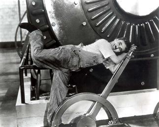 Chaplin em cena de 'Tempos Modernos'