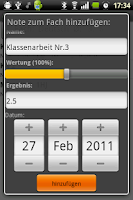 Screenshot of AndMakrs - Notenverwaltung