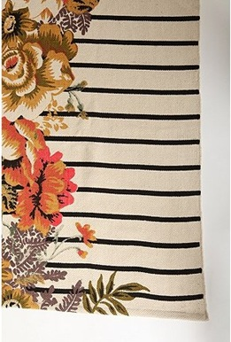 uo flower stripe rug