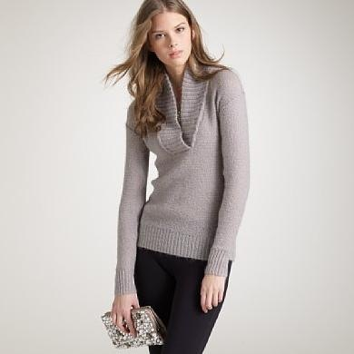 [J Crew Dolce Shawl Collar Sweater[5].jpg]