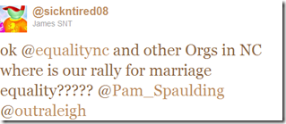Twitter - @James SNT- ok @equalitync and other O ..._1304729602967