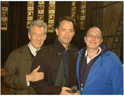 Da Vinci Code - Sir Ian Mckellen, Tom Hanks Filming - Lincoln Cathedral