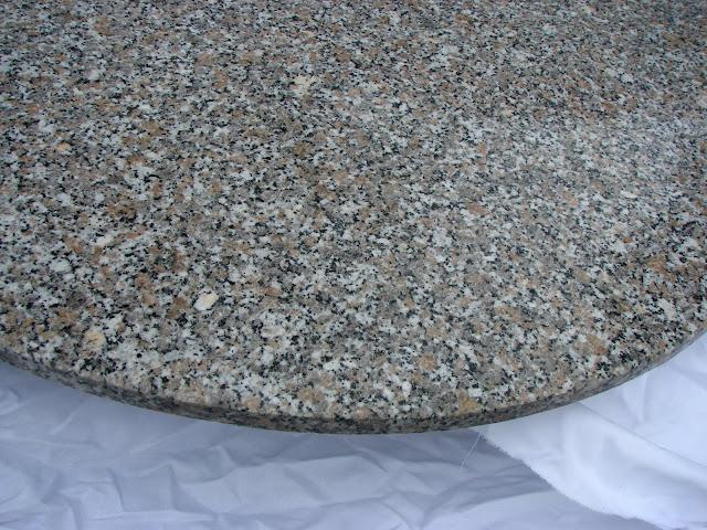 Gartentisch granit esstisch tisch granitplatte marmor for Marmor tischplatte rund