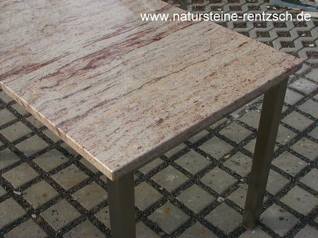 Tisch 150x80 edelstahl granit esstisch gartentisch edel ebay for Esstisch edel