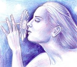 Floare albastra 01