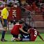 partido de liga en el estadio sanchez pizjuan sevilla - real zaragoza.uche lesionado.lesion de uche