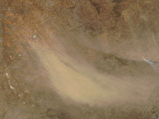 Dust Storm in Texas Image. Caption explains image.