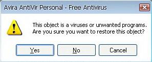 Avira Antivir Quarantine
