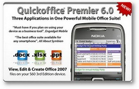 QuickOffice Premier, ponsel, s60, aplikasi ponsel gratis