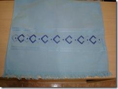 toalhinha azul ponto reto