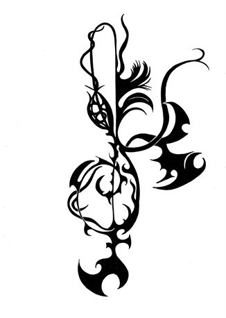 Tattoo treble clef 001