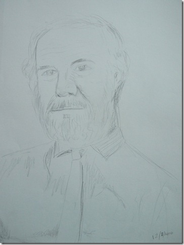 Quick pencil sketch of a man